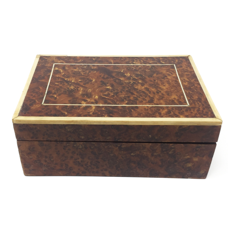 Scatola in radica e avorio Italia 1930 Box in ivory and briar root Italy 1930