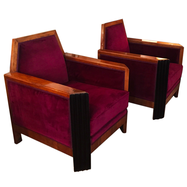 Coppia di poltrone Francia 1930 - Pair of Armchairs France 1930