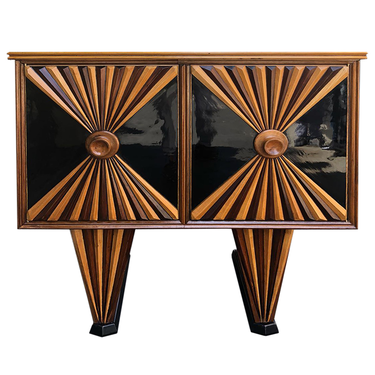 Mobile in palissandro e legno ebanizzato - Furniture in rosewood and abonized wood